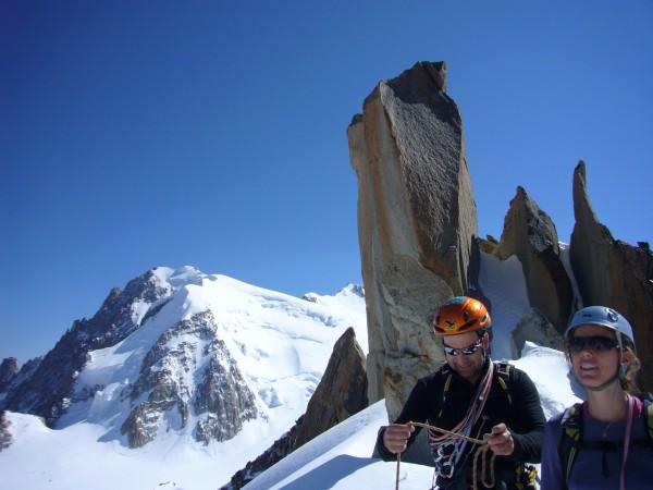 mit bergführer unterwegs