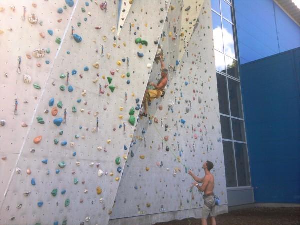 kletterer im vorstieg