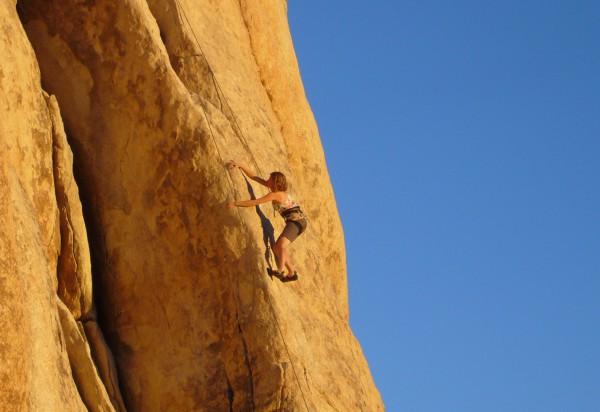 klettern im warmen granit