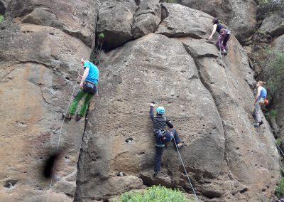 Bergprojekt-Teilnehmer während der Kletterreise 2016